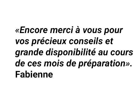 Témoignage de Fabienne