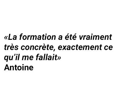 Témoignage d'Antoine